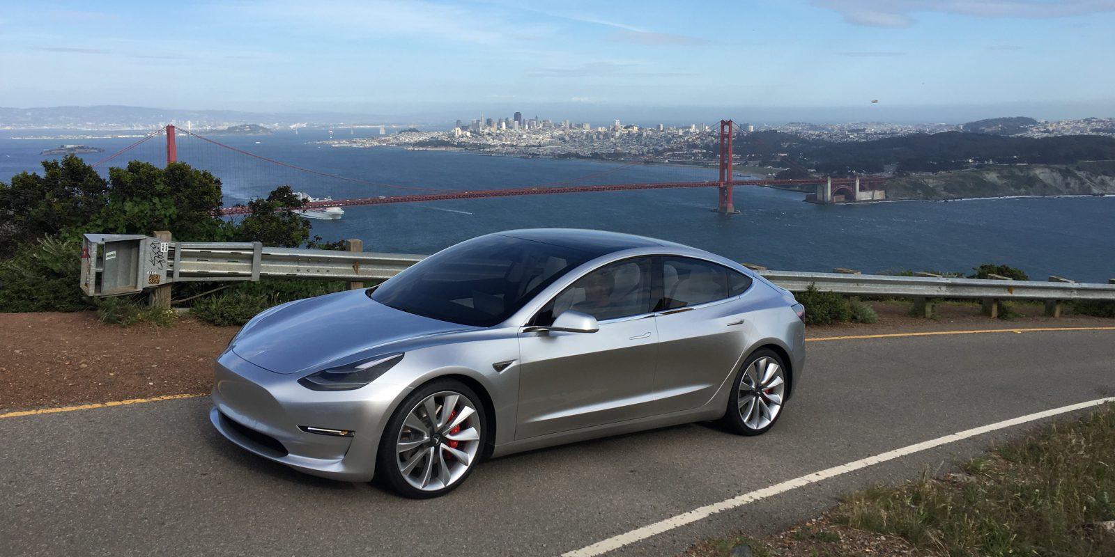 Tesla model 3 SF