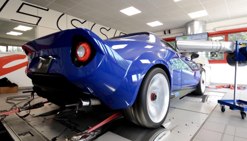 Nuevo Lancia Stratos en banco de potencia