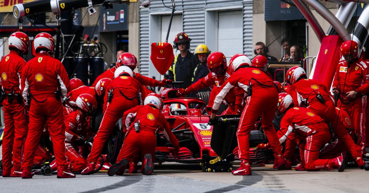 Parada en boxes F1
