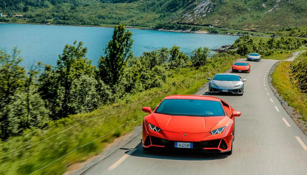 Lamborghini-Avventura--Raodtrip-por-Noruega-con-7-Huracan-Evo