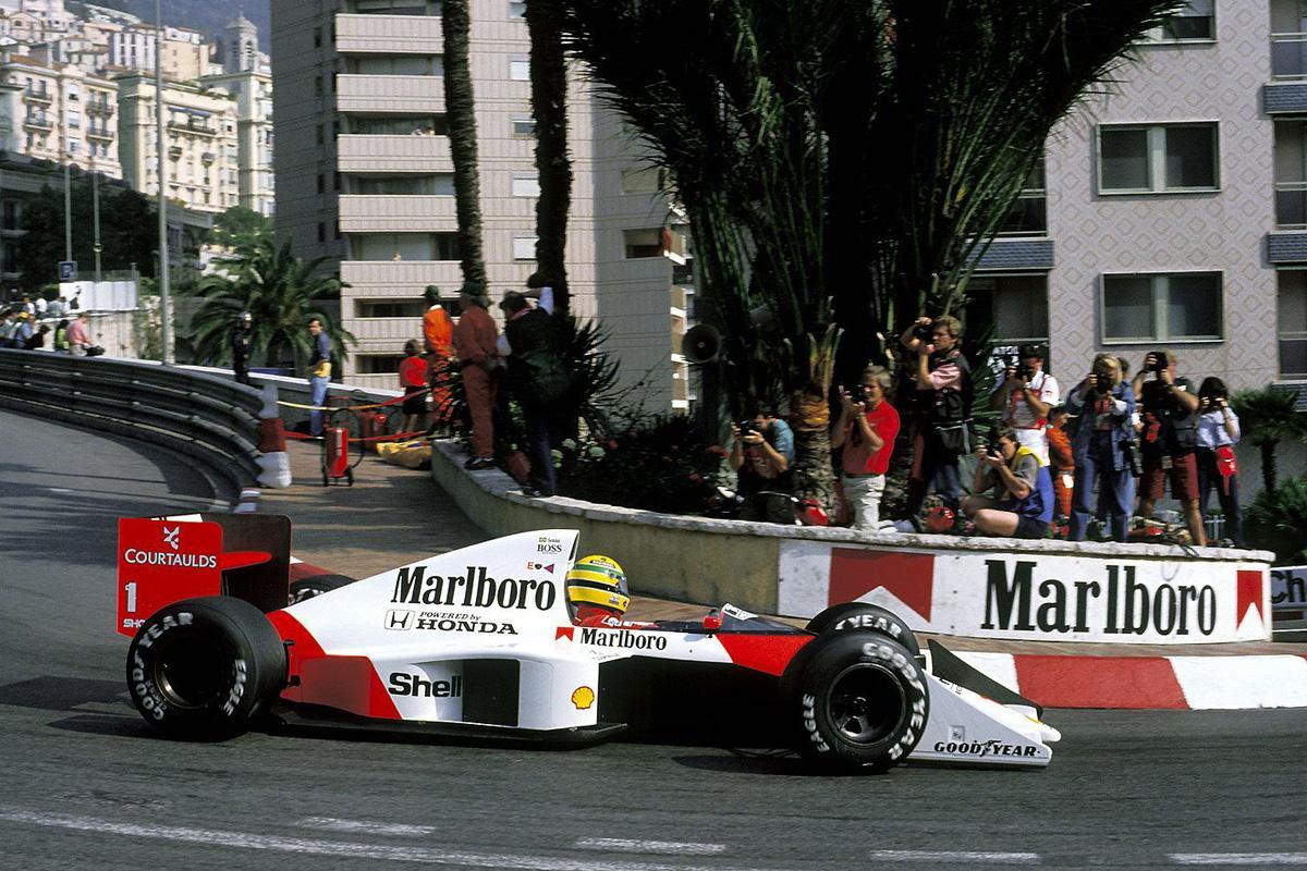Ayrton Senna en Mónaco 1989