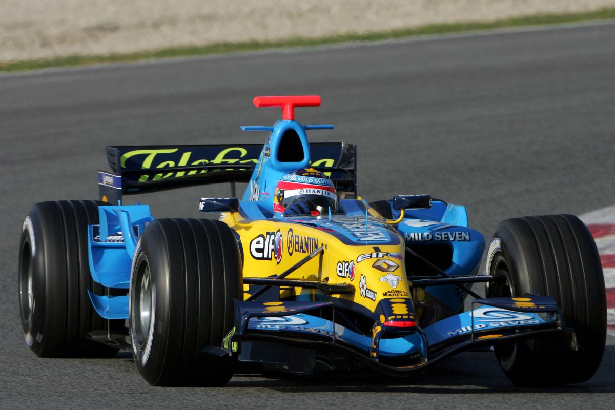Fernando Alonso en 2006 con Renault