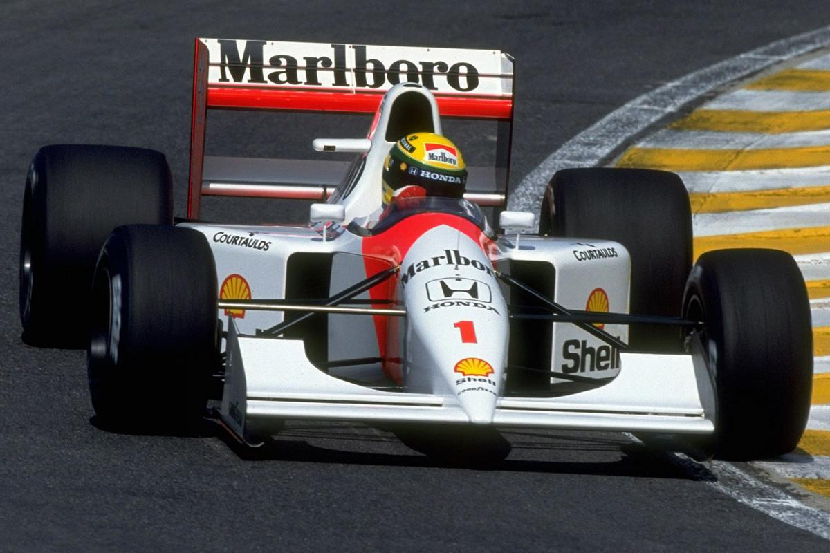 Ayrton Senna con McLaren en 1992