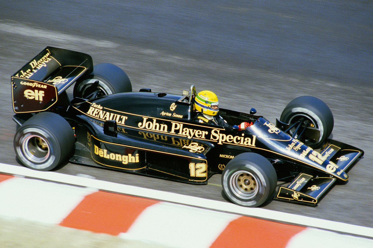 Ayrton Senna con el Lotus 98T