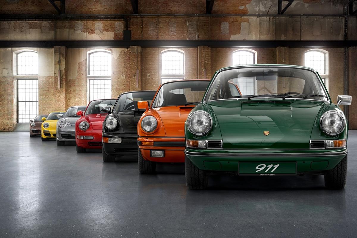 Todas las generaciones de Porsche 911